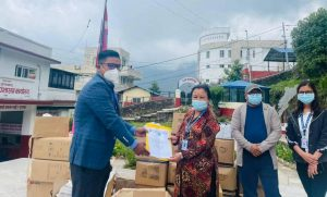 हिमालय सीमापारद्धारा स्वास्थ्य सामग्री वितरण
