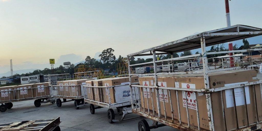 चीनसँग खरिद गरेको ४४ लाख डोज भेरोसेल खोप काठमाडौंमा